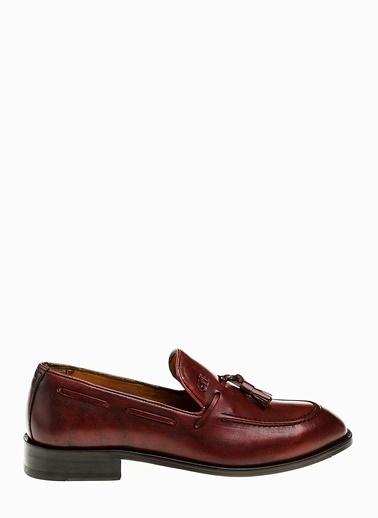 George Hogg %100 Deri Loafer Ayakkabı Bordo